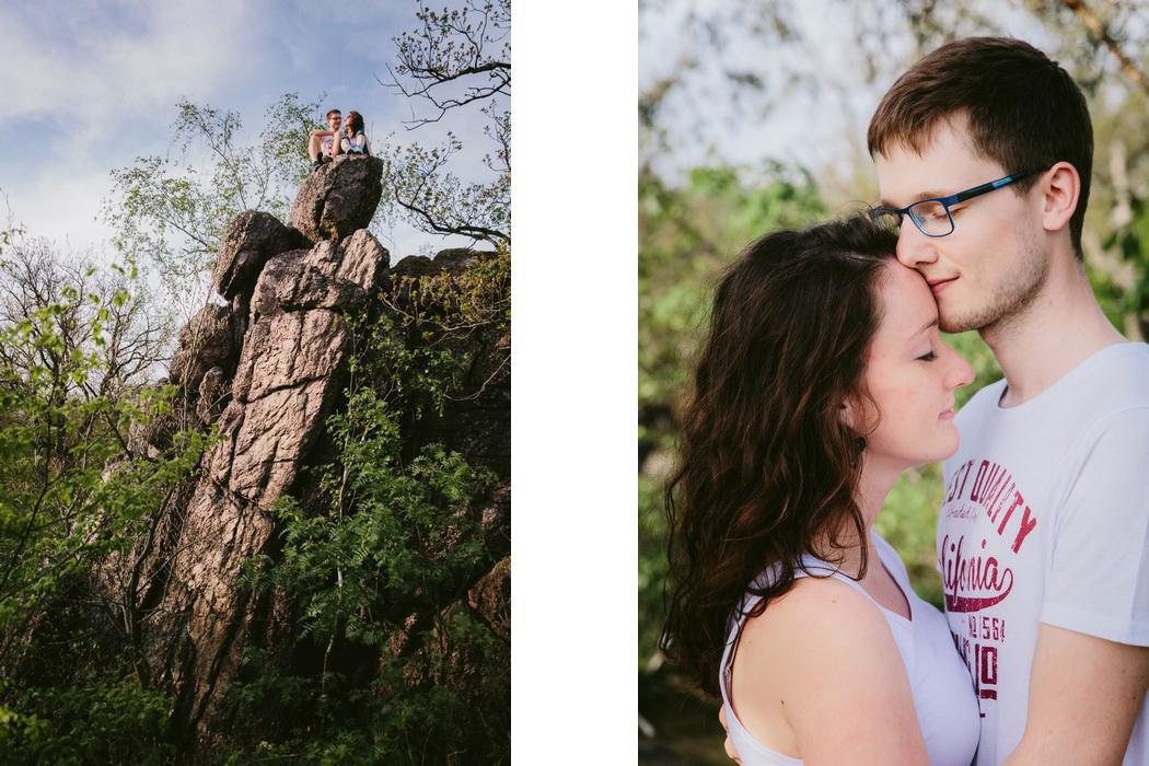 zamilovaný pár u lelekovických skal