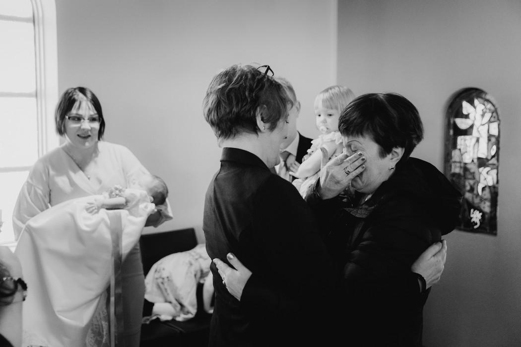 Plačící hosté při křtu
