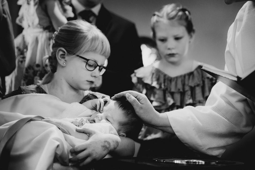 Rodina pri křtu