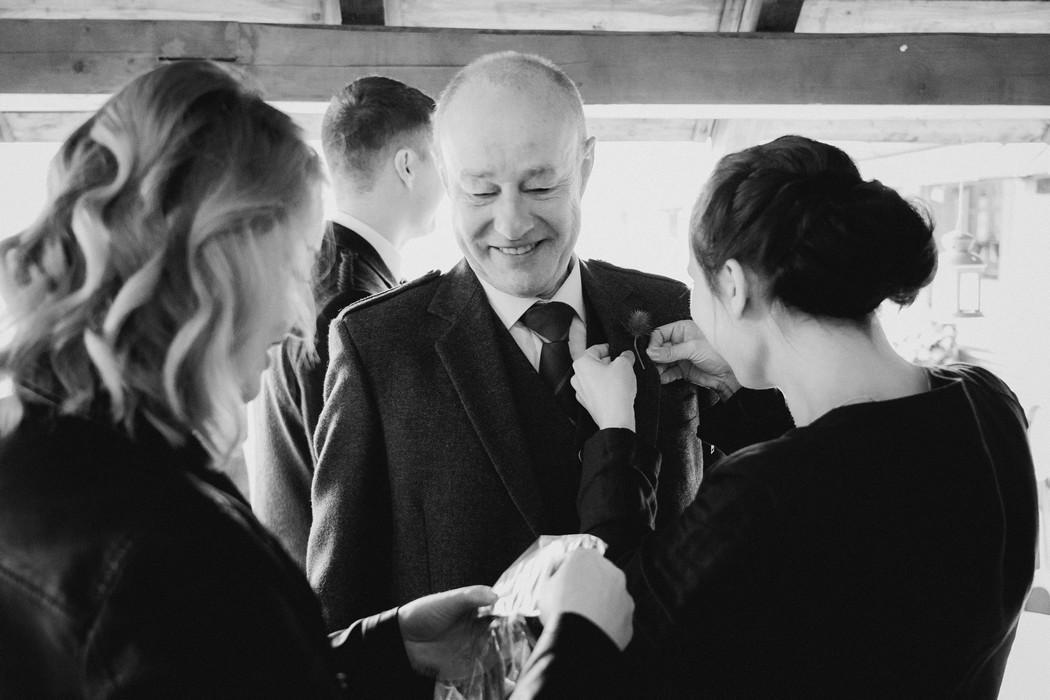 vítání hostu na svatbě