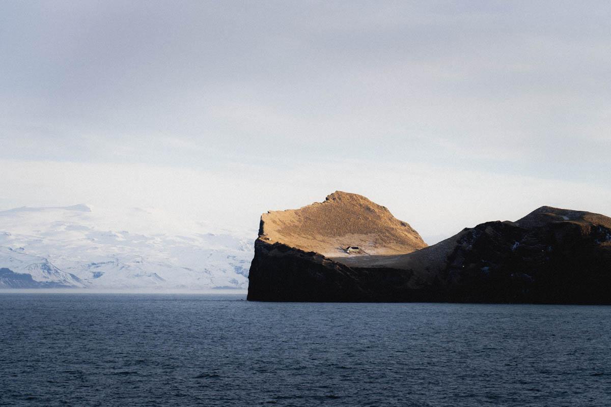 vestmannaeyjar island with the house
