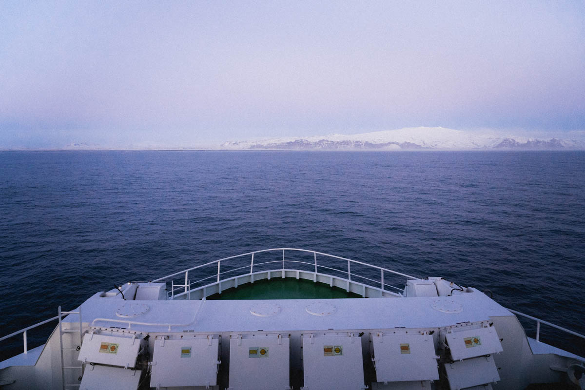vestmannaeyjar from the ferry