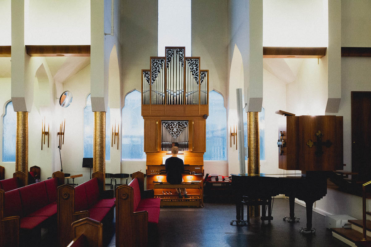 icelandic church inside