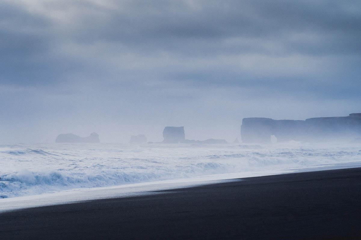islandská krajina a moře